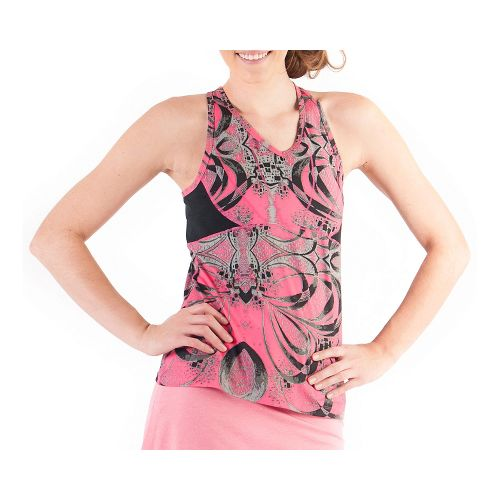 Womens Skirt Sports Eclipse Tanks Technical Tops - Exotic Print/Black XS