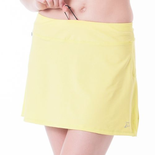 Womens Skirt Sports Gym Girl Ultra with Drawcord Skort Fitness Skirts - Limon Heather L ...