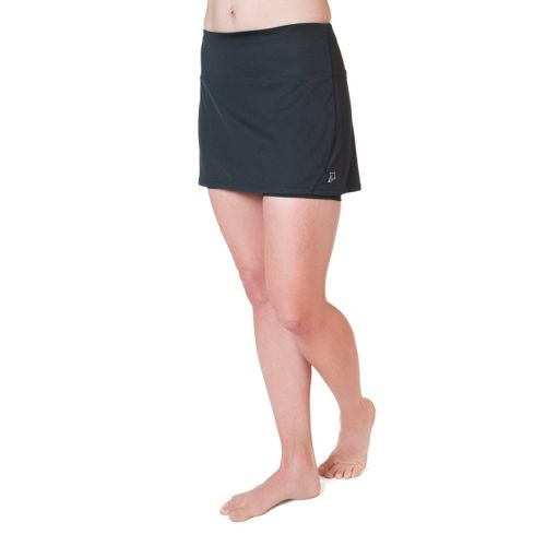 Womens Skirt Sports Running Skort with Shorties Fitness Skirts - Black L