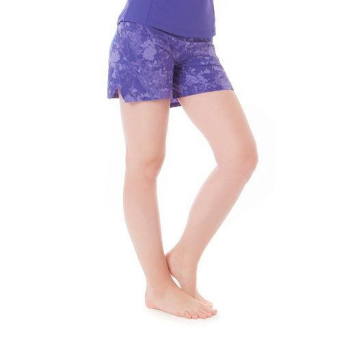 Womens Skirt Sports Go Longer Fitted Shorts - Purple Passion Print XXL