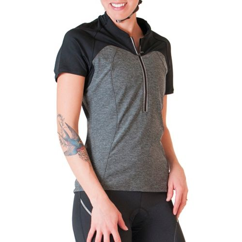 Womens Skirt Sports Trickster Jersey Short Sleeve Technical Tops - Black Heather L