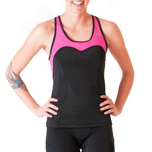 Womens Skirt Sports Siren Tank Sport Top Bras - Black/Pink Crush XL