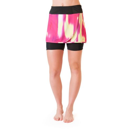 Womens Skirt Sports Transition Skort Fitness Skirts - Blur Print L