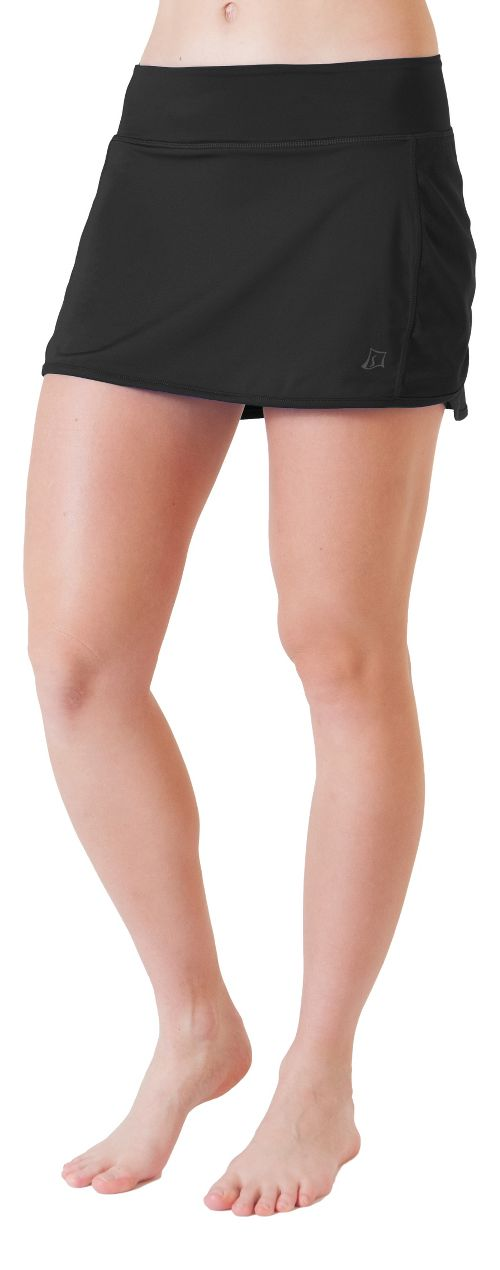 Womens Skirt Sports Running with Spankies Fitness Skirts - Black L