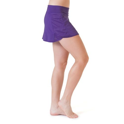 Womens Skirt Sports Running with Spankies Fitness Skirts - Pretty in Purple XS