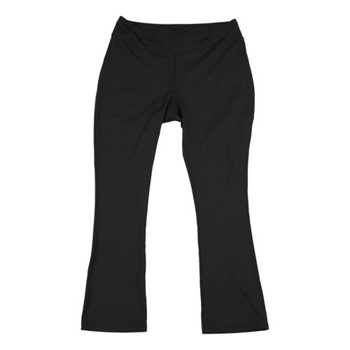 Womens Taffy Activewear Essential Capri Pants - Black 3X
