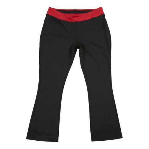 Womens Taffy Activewear Essential Capri Pants - Black/Red 1X