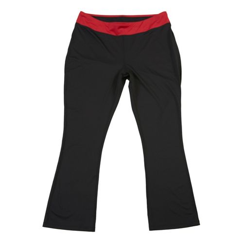 Womens Taffy Activewear Essential Capri Pants - Black/Red 3X