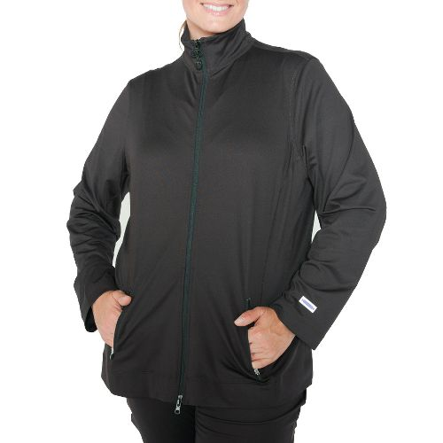 Womens Taffy Activewear Essential Running Jackets - Black 1X
