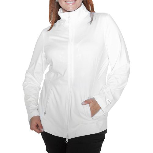 Womens Taffy Activewear Essential Running Jackets - White 1X