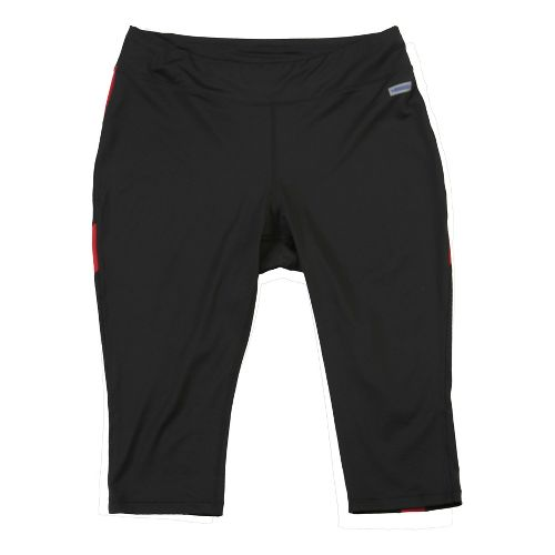 Womens Taffy Activewear Essential Capri Pants - Black/Red 2X