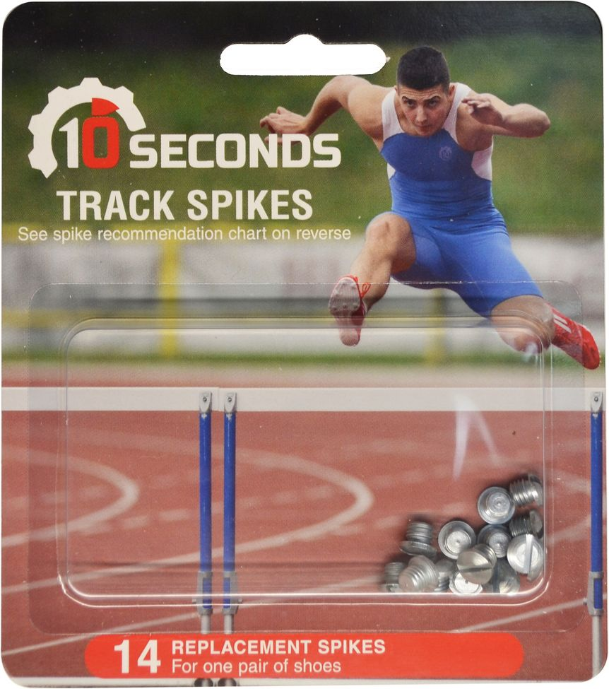 10 SECONDS® TRACK SPIKES BLANKS 14 pack  ::  Replace or customize your track spike configuration with these awesome 10 Seconds® Track Spikes Blanks.