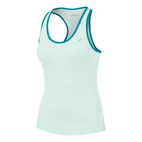 Womens ASICS Emma Racerback Tanks Technical Tops - Blue/Enamel L