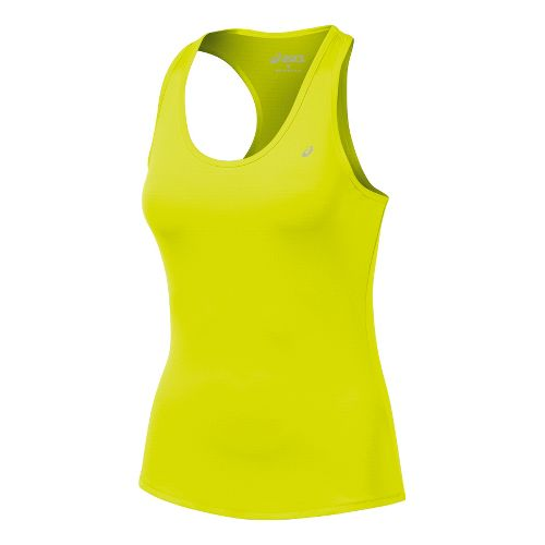 Womens ASICS Emma Racerback Tanks Technical Tops - Electric Lime S