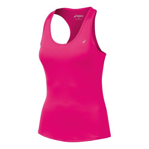 Womens ASICS Emma Racerback Tanks Technical Tops - Magenta XL
