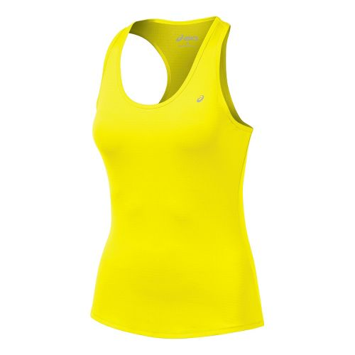 Womens ASICS Emma Racerback Tanks Technical Tops - Neon S