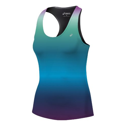 Womens ASICS Emma Racerback Tanks Technical Tops - Ombre XS