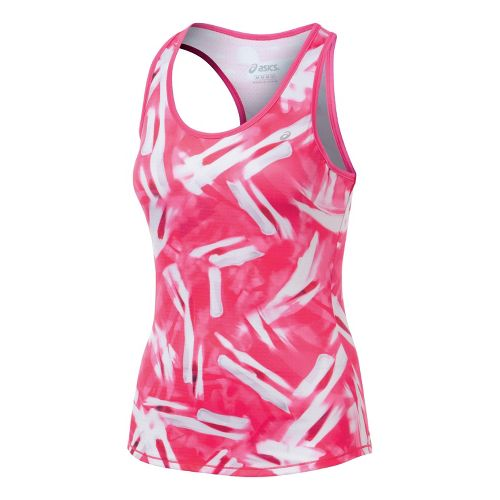 Womens ASICS Emma Racerback Tanks Technical Tops - PinkGlo S