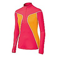 Womens ASICS Lite-Show Favorite Long Sleeve 1/2 Zip Technical Tops