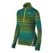 Womens ASICS Thermostripe Long Sleeve 1/2 Zip Technical Tops