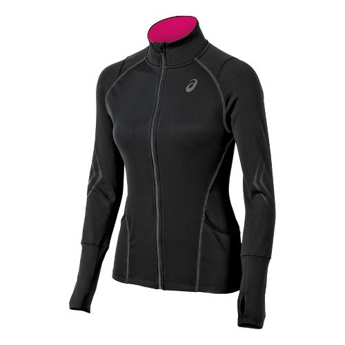 Womens ASICS Lite-Show Running Jackets - Black XL