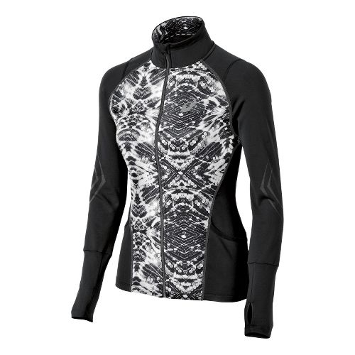 Womens ASICS Lite-Show Running Jackets - Black/Sequin Print XS