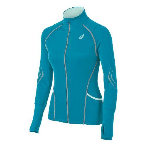 Womens ASICS Lite-Show Running Jackets - Bondi Blue XS