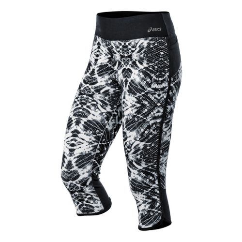 Womens ASICS Crazy Pants Capri Tights - Black/White S