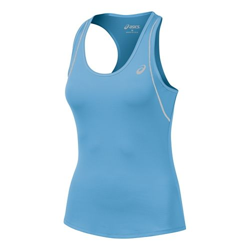 Womens ASICS Lite Show Favorite Racerback Singlets Technical Tops - Blue L