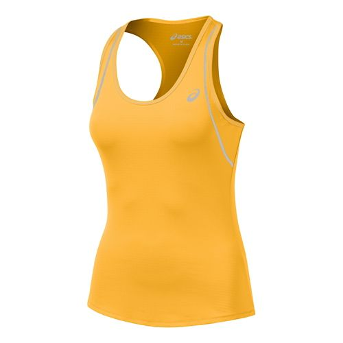 Womens ASICS Lite Show Favorite Racerback Singlets Technical Tops - Peach L