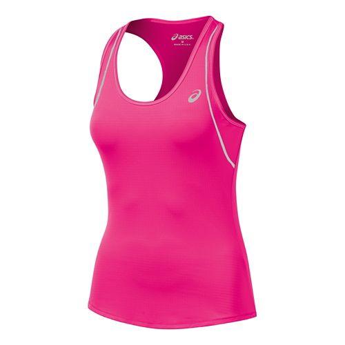 Womens ASICS Lite Show Favorite Racerback Singlets Technical Tops - Pink XL