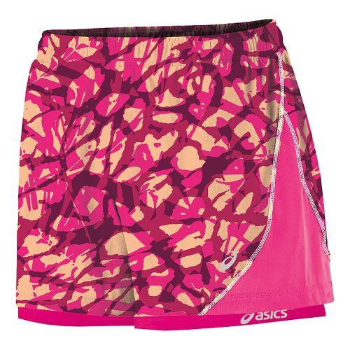Womens ASICS Lite Show Versatility Lined Shorts - Fizzy Collage L