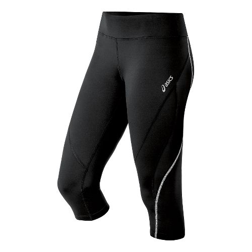Womens ASICS Lite Show Capri Tights - Black XS