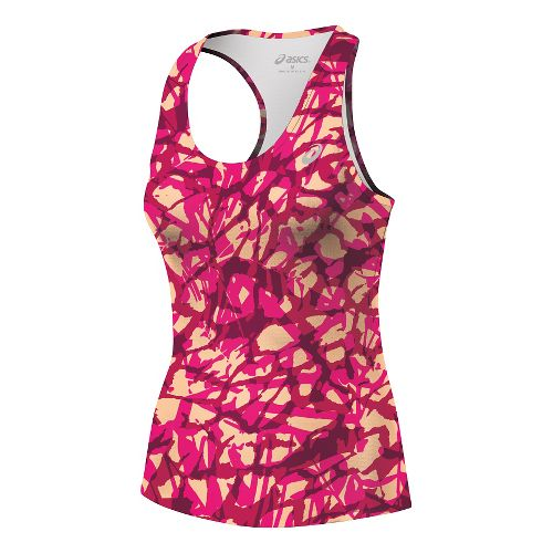 Womens ASICS Emma Racerback Singlets Technical Tops - Fizzy Collage XS