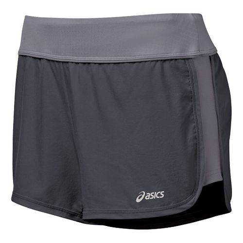 Womens ASICS Everysport Unlined Shorts - Steel/Frost XS