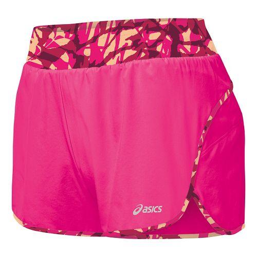 Womens ASICS Distance Lined Shorts - Ultra Pink XL