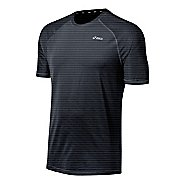 Mens ASICS PR Stripe Short Sleeve Technical Tops