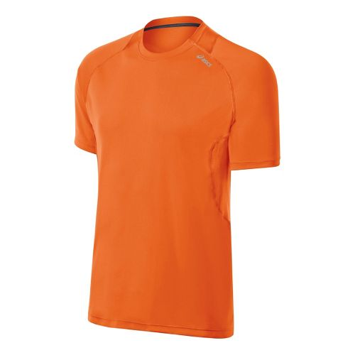 Mens ASICS Favorite Short Sleeve Technical Tops - Orange Burst XL