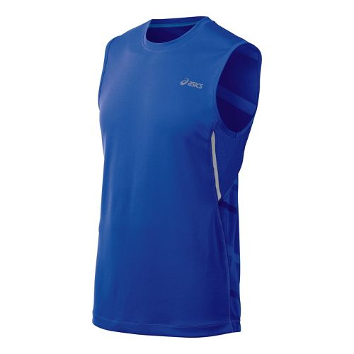 Mens ASICS Gradiant Sleeveless Technical Tops - Surf M