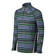 Mens ASICS Thermostripe 1/2 Zip Technical Tops