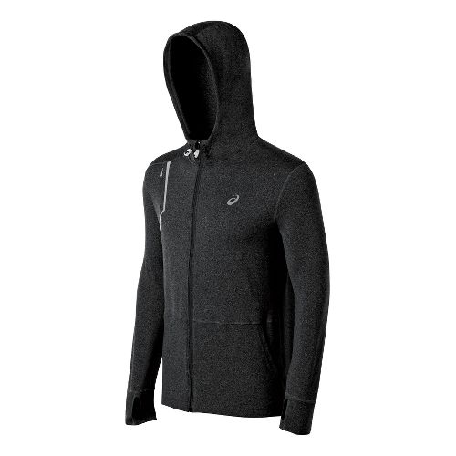 Mens ASICS Thermopolis LT Hoody Running Jackets - Black L
