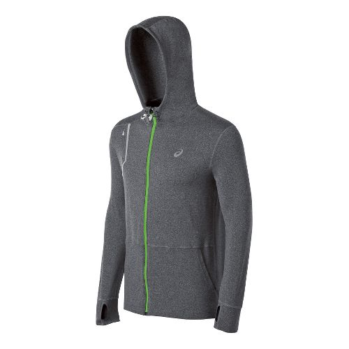 Mens ASICS Thermopolis LT Hoody Running Jackets - Dark Grey L