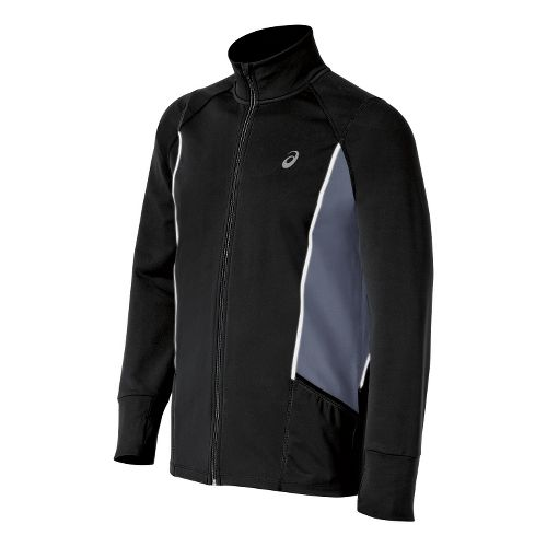 Mens ASICS Lite-Show Running Jackets - Black L