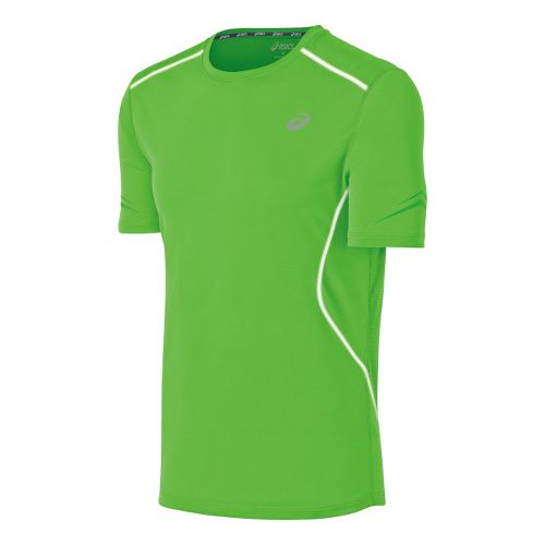 Mens ASICS Lite-Show Favorite Short Sleeve Technical Tops - Green XL