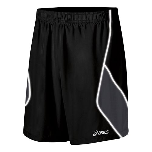 Mens ASICS Lite Show Lined Shorts - Black XL