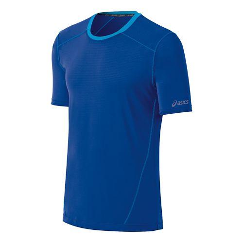 Mens ASICS PR Lyte Short Sleeve Technical Tops - Cobalt XL