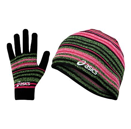 Womens ASICS Abby Beanie & Glove Set Headwear