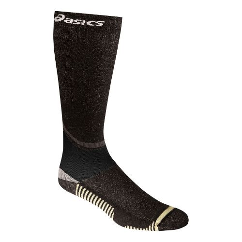 ASICS Rally Knee High Socks Injury Recovery - Black M