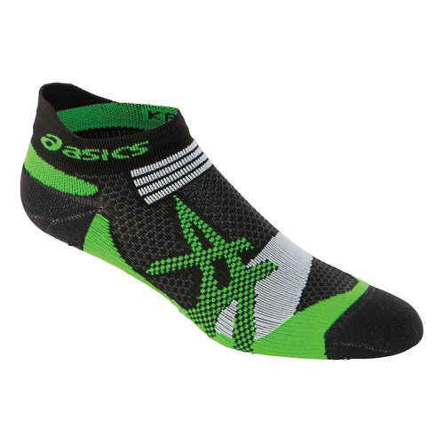 ASICS Kayano Single Tab Low Cut Socks - Black/Green M