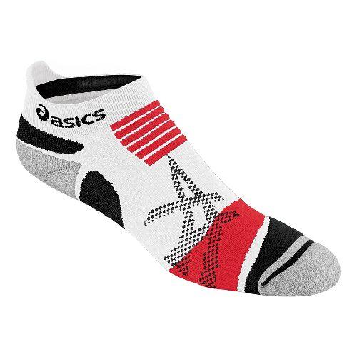 ASICS Kayano Single Tab Low Cut Socks - White/Red L